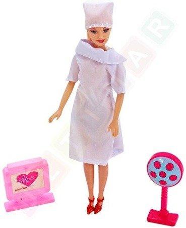 Duży zestaw lekarski z lalką