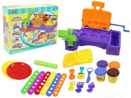 Masa plastyczna + akcesoria: piknikowy grill