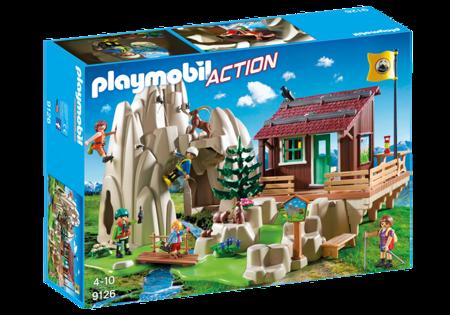Playmobil Skała do wspinaczki z chatą górską