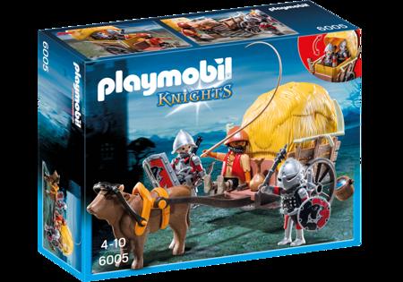 Playmobil- Zamaskowany powóz rycerzy herbu Sokół