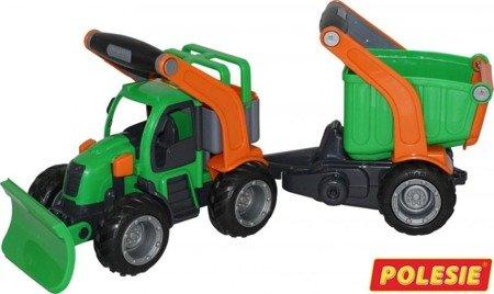 """Polesie 48400 """"GripTrucks"""", traktor komunalny z naczepą (w siatce)"""