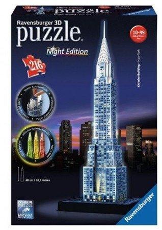 Ravensburger Puzzle 3D Chrysler Building nocą