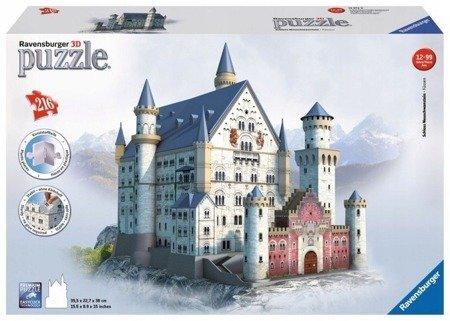 Ravensburger (RAP125739): Puzzle 3D Zamek Neuschwanstein