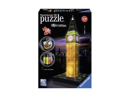Ravensburger (RAP125883): Puzzle 3D Big Ben nocą