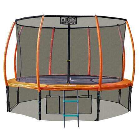 Trampolina 305 cm 10 ft ring, drabinka, pokrowiec pomarańczowa
