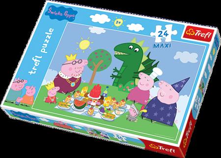 Trefl (14157): Puzzle 24 Maxi - Świnka Peppa - Uczta