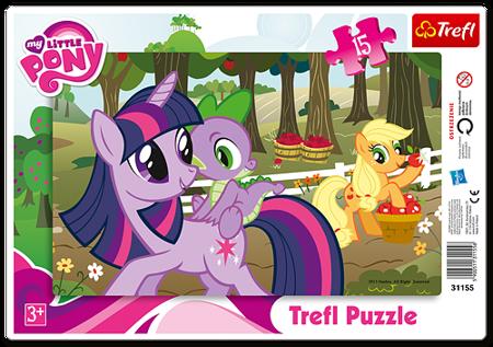 Trefl (31155): Puzzle ramkowe 15 el. W sadzie