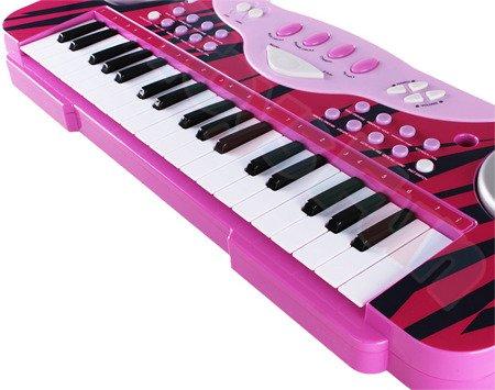 Ultimar: Keyboard dla dzieci, organki z mikrofonem, różowe